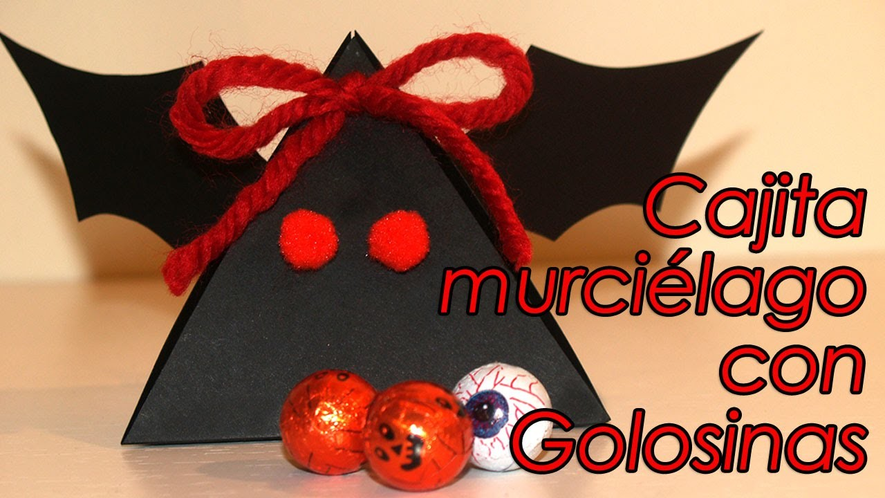 CAJITA MURCIÉLAGO CON GOLOSINAS PARA HALLOWEEN- BAT BOX FOR HALLOWEEN