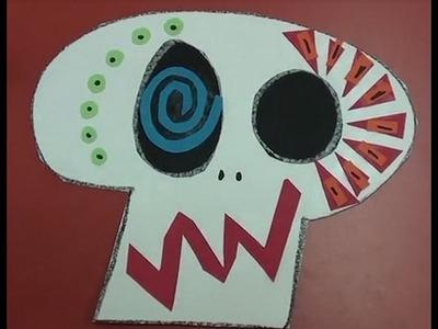 Calavera Halloween para niños. Manualidad infantil