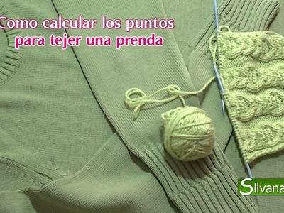 Como calcular los puntos para tejer una prenda. TEJIDO A DOS AGUJAS #35