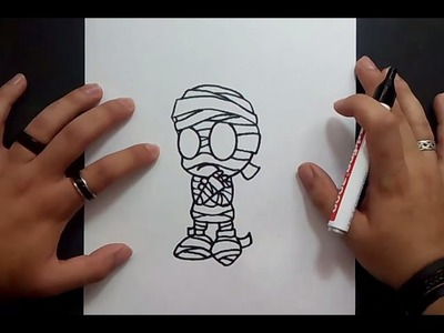 Como dibujar a Amumu paso a paso - League of Legends | How to draw Amumu - League of Legends