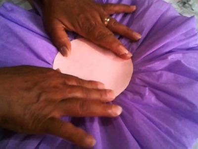 Como hacer flores de papel crepe grandes facil