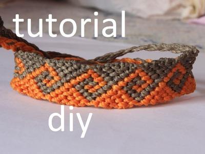 Como hacer una pulsera macrame ola griega modelo 4