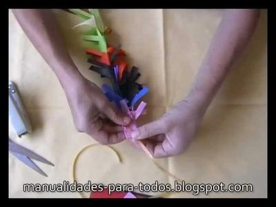 Decoración de fiestas - adorno de colores - Manualidades para todos
