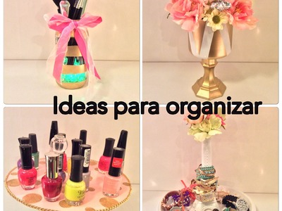 DiY 4 ideas para organizar tu cuarto. manualidades faciles