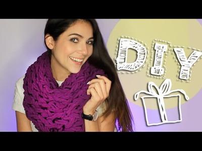 DIY: ¡Teje una bufanda infinita con tus manos!
