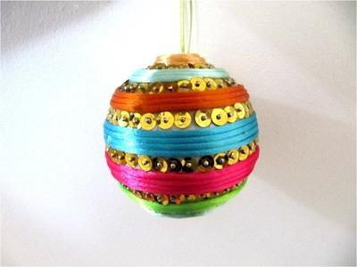 Esferas Navideñas cordoncillos    multicolores y lentejuelas