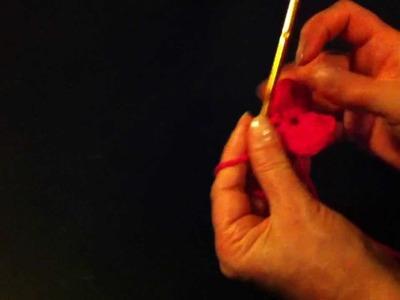 Ganchillo: Cómo tejer una flor - hacer el punto alto con ganchillo