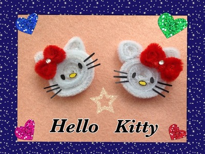 HELLO KITTY HECHO  CON LIMPIA PIPAS.- PIPE CLEANER HELLO KITTY .