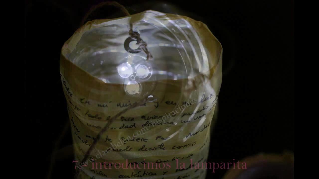 Manualidades: farol o lampara de leds con botella plástico reciclada y cinta de pintor