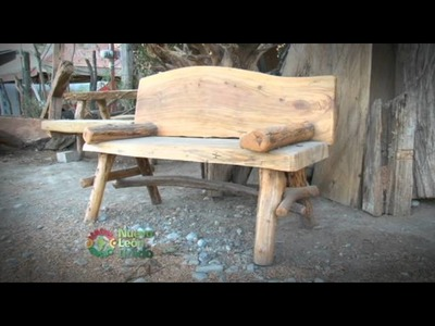 Muebles con troncos de árboles
