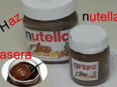 Nutella Casera Como hacerla?.Homemade Nutella Recipe