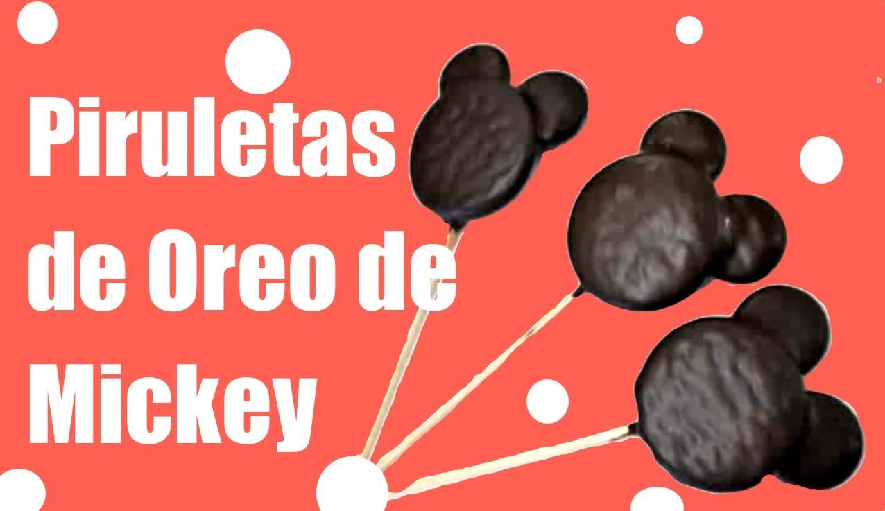 Piruletas de Oreo de Mickey Mouse