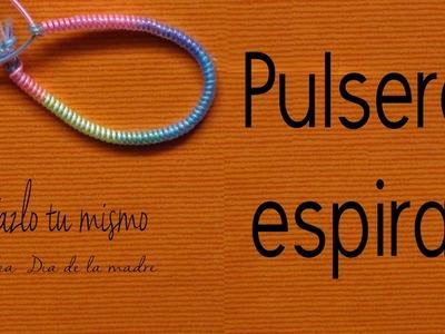 Pulsera espiral sin gomitas