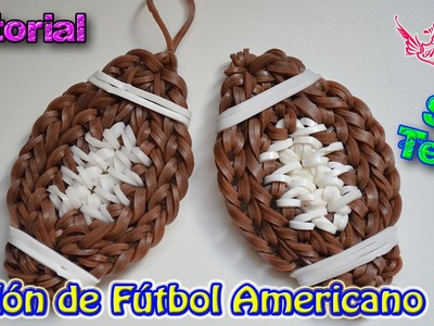 ♥ Tutorial: Balón de Fútbol Americano (sin telar) ♥