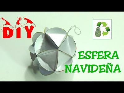131. DIY ESFERA NAVIDAD (RECICLAJE DE TETRA BRIK)