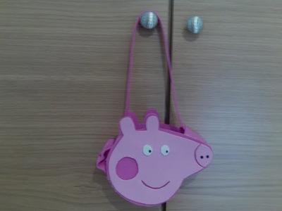 Bolso Peppa Pig con plantillas muy fácil