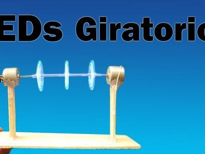 Cómo Hacer LEDs Giratorios (muy fácil de hacer)