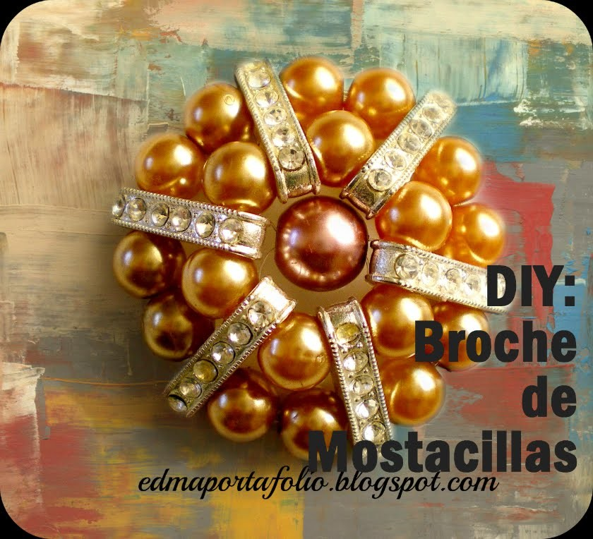 Como hacer un broche para bufanda (How to make a scarf brooch)