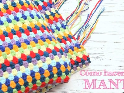 Cómo hacer una manta de ganchillo | How to crochet a stripped blanket