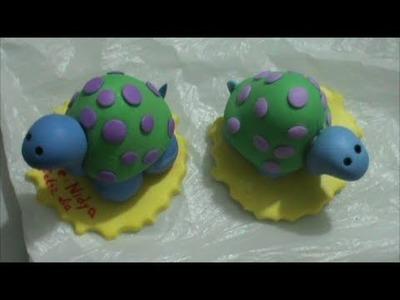 Como Hacer una Tortuga en Porcelana Fria