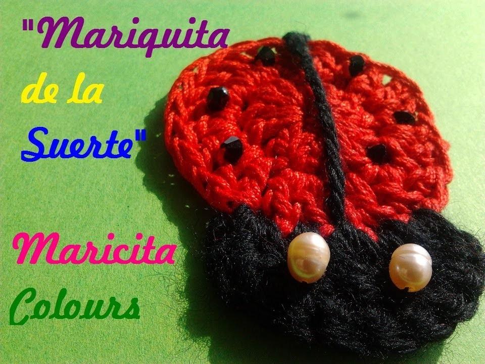 """Crochet Tutorial Mariquita de la Suerte """"Maricita"""".Vaquita de San Antonio. Ladybug"""