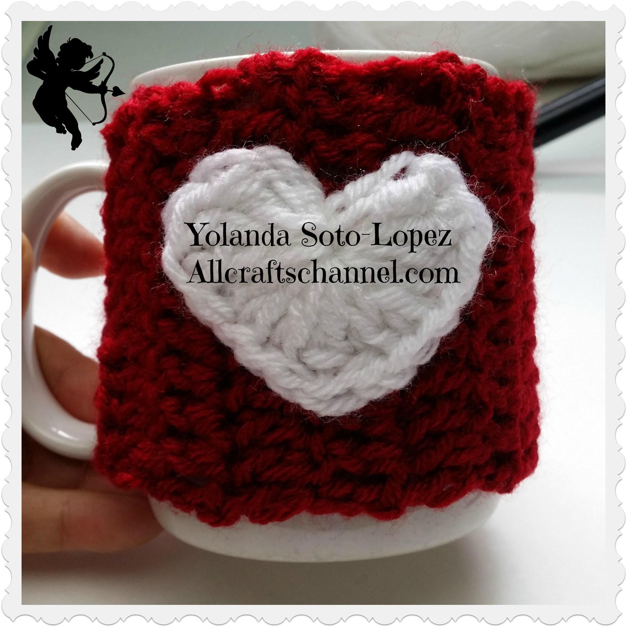Cubre taza de cafe para dia de amistad en # Crochet