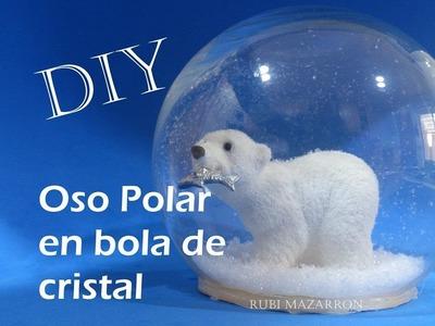 Diy. Oso Polar en bola de cristal