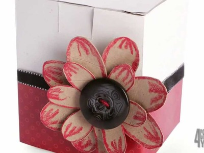 Flor de papel facil y rapida [flor de carton de papel higienico]