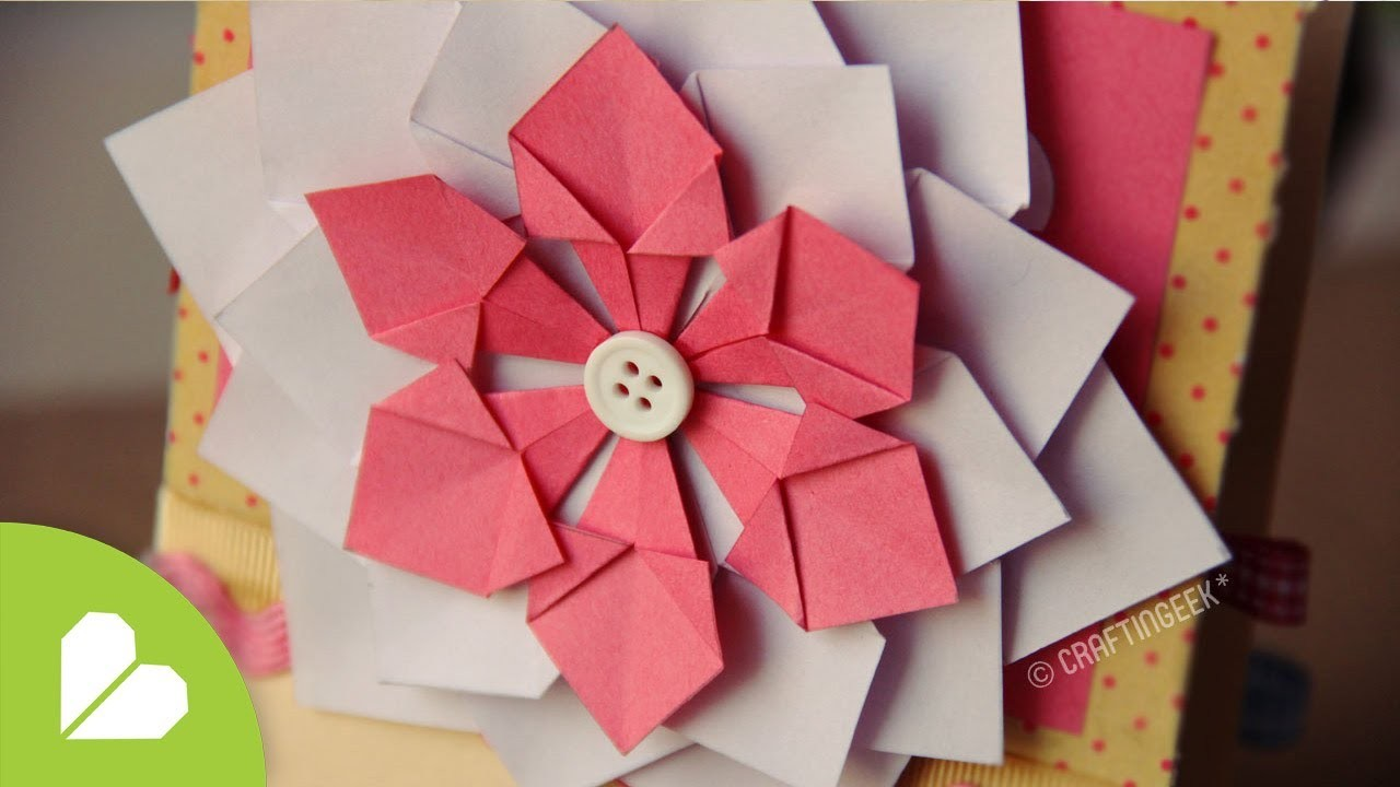 Flor Decorativa FACIL. Scrapbook & Origami