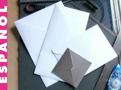 Haz SOBRES de cualquier tamaño y papel con scoring board básico