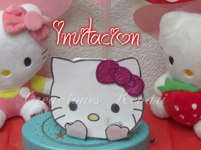 Invitación de Hello Kitty, Fácil y económica.DIY Tutorial   Birthday Invitations