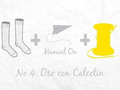 Manual On No. 4 Oso con Calcetín