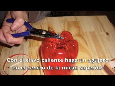 Manzana de Botella plástica. DIY plastic apple, recycle bottles. EcoDaisy