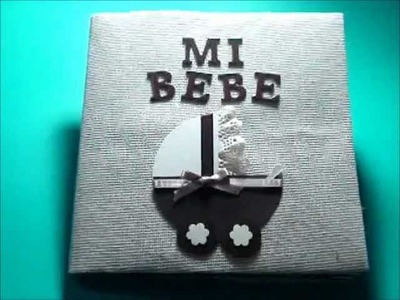 Mini abum scrapbook para bebé - Baby mini album scrapbook