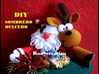 (Navidad) COMO HACER UN HERMOSO BOMBONERO- SOMBRERO DULCERO PARA NAVIDAD. 2a. Parte