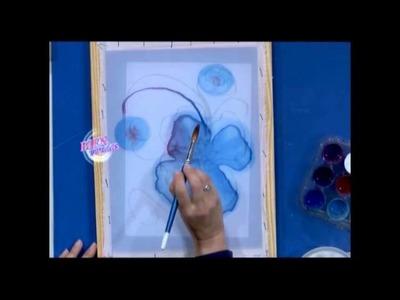 Pintura para Tela sobre gasa - Silvia Botta en Bievenidas Tv
