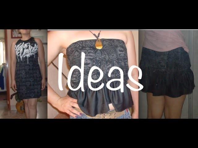 Playera Camisa a Vestido Falda Costura Fácil, T-shirt to Dress ·DIY #Easy ·Sewing