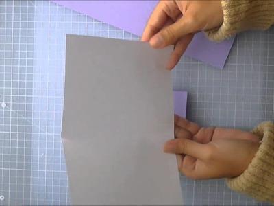 Scrapbooking en Español Episodio 16 Medidas de papeles para elaborar tarjetas