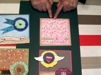 Scrapbooking tips: Cardmaking : Tarjetas fáciles y originales. tutorial scrapbook.