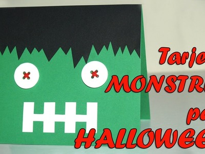 TARJETA HALLOWEEN MONSTRUO SUPERFÁCIL- HALLOWEEN MONSTER CARD