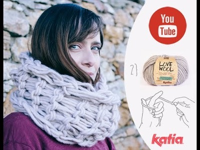 Teje con tus manos cuello Love Wool · Knit with your hands an infinity scarf