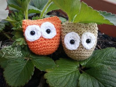 Tutorial Mini Buho Amigurumi Owl (English Subtitles)