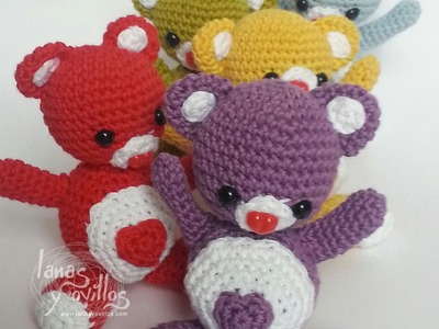 Tutorial Oso Corazón Amigurumi Heart Teddy Bear (English subtitles)