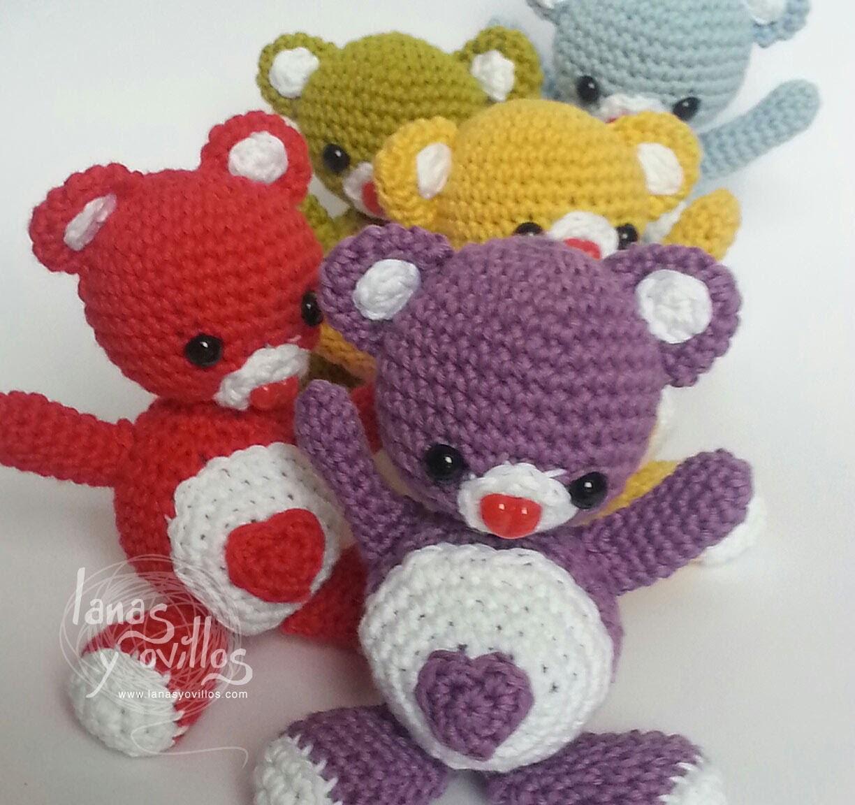 Tutorial Oso Corazón Amigurumi Heart Teddy Bear (English subtitles)