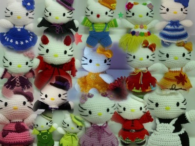 Tutoriales español muñecos crochet-ganchillo (amigurumi) (hello kitty, flores, . )