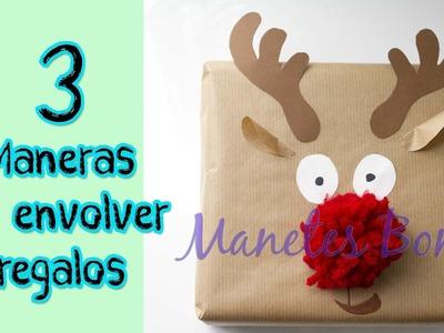 3 formas de envolver regalos | Viernes de papel - Tutorial DIY con patrón