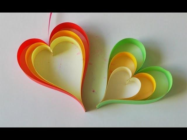 Adornos para colgar - Móvil de corazones súper fácil! - Manualidades para todos