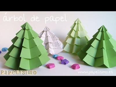 Árbol de Papel Navidad -- Christmas Paper Tree