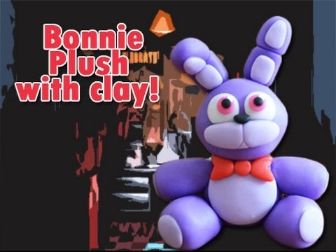 Bonnie Plush Version Five Nights at Freddy's Tutorial Polymer clay. Porcelana fria. Cold porcelain