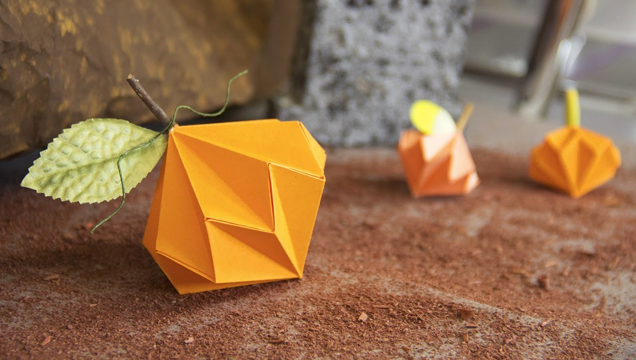 Calabazas de papel - Manualidades Halloween | Craftingeek